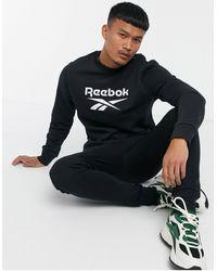 Reebok Sudadera negra con logo - Negro