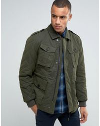 Esprit Military Jacket With Quilted Detail - Green
