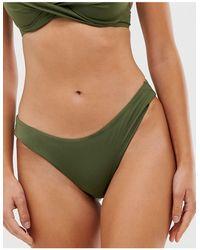 DORINA Mix And Match High Leg Brazilian Bikini Bottom - Green