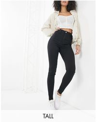 Missguided Vice Skinny Jean With Belt Loops - Black
