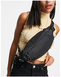 TOPSHOP Nylon Sling Bum Bag - Black
