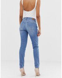 Salsa Vormende Jeans Met Sluitende Taille - Blauw