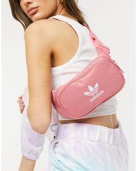 adidas Originals Дымчато-розовая Сумка-кошелек На Пояс С Логотипом -розовый Цвет