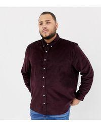 Jacamo Cord Button Down Shirt - Red