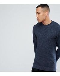 SELECTED - Knitted High Neck Jumper With Texture Detail In 100% Cotton - Lyst