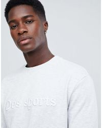 New Look Sweatshirt With Embroidery In Light Gray