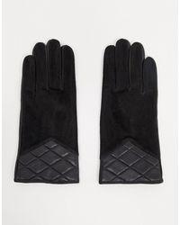 Barneys Originals - Черные Замшевые Перчатки Со Стеганой Отделкой Barney's Originals-черный - Lyst