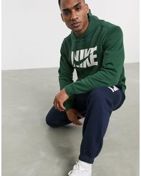 Nike Tuta sportiva verde e blu navy con stampa