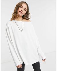 AllSaints Rita - T-shirt a maniche lunghe bianca - Bianco