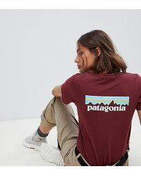 Patagonia - Pastel P-6 Logo Responsibili-tee In Red - Lyst
