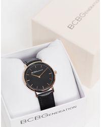 BCBGMAXAZRIA Часы С Черным Ремешком И Циферблатом Bcbg Generation-черный Цвет