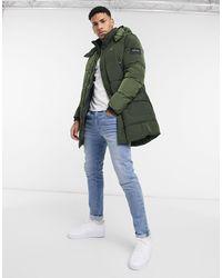 Calvin Klein Удлиненная Куртка Цвета Хаки Из Жатого Нейлона -зеленый Цвет