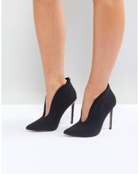 River Island | Slit Front Heeled Shoe Boots | Lyst