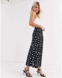 FABIENNE CHAPOT Claire Polka Dot Midi Slip Skirt-black