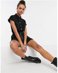 Vero Moda Черный Ромпер В Утилитарном Стиле