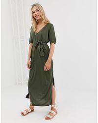 ASOS Belted Maxi Dress - Green