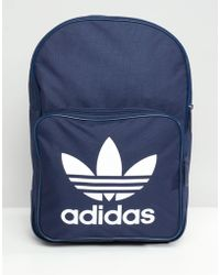 adidas Originals - Large Trefoil Logo Backpack In Navy Dj2171 - Lyst