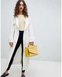 Mango - Premium Summer Trench Coat In Cream - Lyst