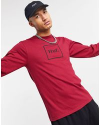 Huf Essentials Domestic Long Sleeve - Red