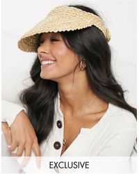 South Beach Exclusive Straw Visor - Natural