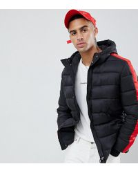Sixth June - Puffer Jacket With Red Taping Exclusive To Asos - Lyst