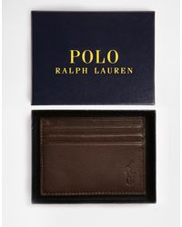 Polo Ralph Lauren Leather Card Holder - Brown