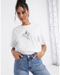 Honour Camiseta extragrande con estampado - Blanco