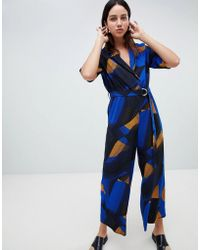 7d6a876e5e3 Weekday Jimi Short Sleeve Jumpsuit in Green - Lyst