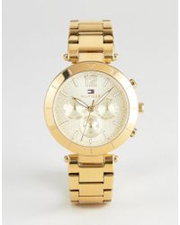 Tommy Hilfiger - 1781878 Chronograph Bracelet Watch In Gold 38mm - Lyst