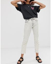 Cheap Monday Revive - Stugge Smalle Jeans Uit Biologisch Katoen Met Onafgewerkte Zoom - Wit