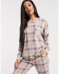 Hunkemöller Check Pyjama Top - Pink