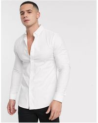 New Look Muscle Oxford Shirt - White