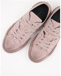 AllSaints All Saints Jazmin Low Top Lace Up Trainers - Pink