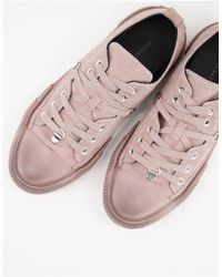 AllSaints All Saints Jazmin Low Top Lace Up Sneakers - Pink
