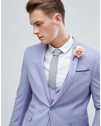 ASOS Asos Wedding Skinny Suit Jacket - Blue