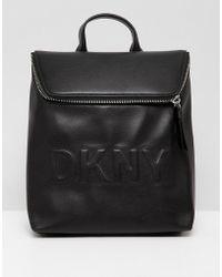 DKNY - Logo Backpack In Black - Lyst