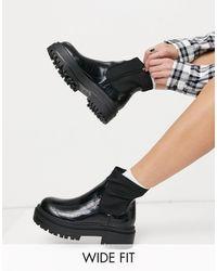 Raid Wide Fit - Черные Ботинки На Массивной Платформе Для Широкой Стопы Raid Robin Wide Fit-черный Цвет - Lyst