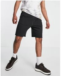 Only & Sons Shorts negros lavados