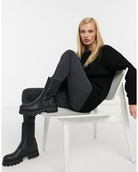 Glamorous Relaxed Jumper With Scoop Back - Black