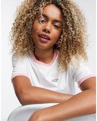 Vans T-shirt crop top coupe carrée - Blanc