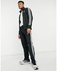 adidas Originals Adicolor Firebird Three Stripe Trackies - Black
