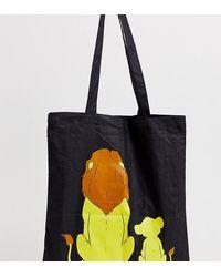 """ASOS Сумка-тоут С Принтом """"mufasa And Simba"""" Disney The Lion King X - Черный"""