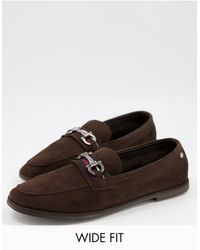 Ben Sherman - Wide Fit Suede Snaffle Bar Loafers - Lyst