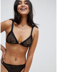 ASOS - Eloise Corded Lace Triangle Bra - Lyst