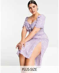 Missguided Leopard Print Milkmaid Dress - Multicolour