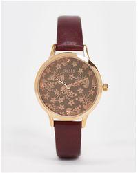 Oasis Часы С Цветочным Принтом На Циферблате -черный