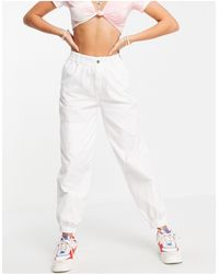 TOPSHOP Hite Cuffed Utility Trousers - White