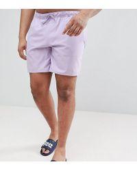 ASOS - Plus Swim Shorts In Pale Purple In Mid Length - Lyst