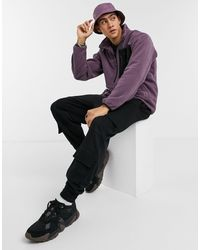 Pull&Bear Half Zip Fleece - Purple