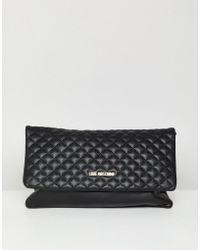 Love Moschino - Quilted Logo Chain Bag - Lyst